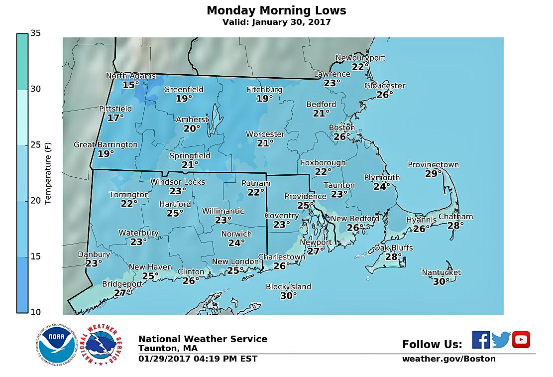 Winter Weather Returns With Cold Temps Chance Of Snow - Us weather map monday