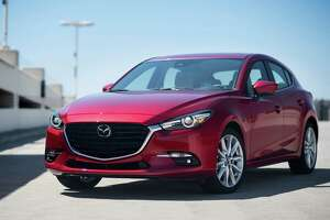 For 2017, every Mazda3 5-door, except the base Sport trim, gets new side mirrors and 18-inch alloy wheels.