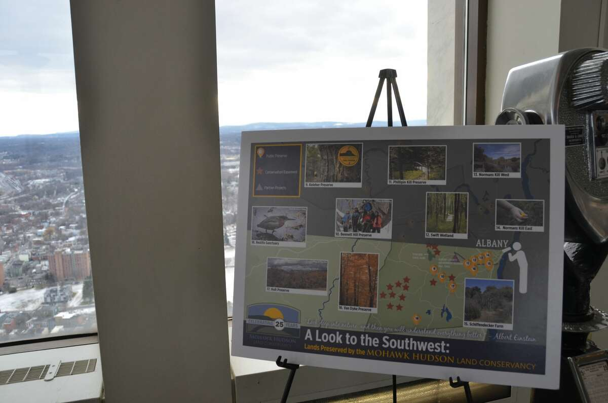 Were you Seen at Mohawk Hudson Land Conservancy's 25th Anniversary celebration on the Corning Tower Observation Deck in Albany on Saturday, January 28, 2017? The event honoredMatthew Bender IV, a local philanthropist and conservationist, and Stewart Dutfield, the Rail Trail Ambassador Coordinator.