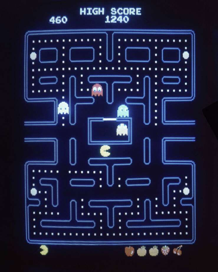 """This close-up view of a monitor shows the electronic video game """"Pac-Man."""" Masaya Nakamura, the """"Father of Pac-Man"""" who founded the Japanese video game company behind the hit creature-gobbling game, has died. He was 91. Photo: Associated Press /File Photo / 1983 AP"""