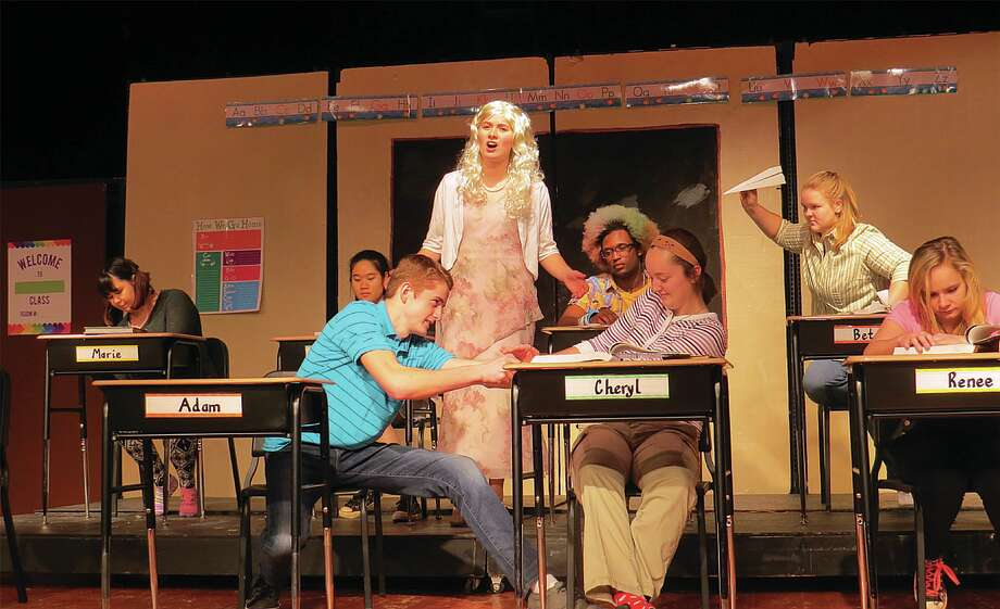 """Miss Nelson, played by Halle Keim, sings about her unruly classroom during the Laker One Act team's performance of the musical comedy """"Miss Nelson is Missing."""" Photo: Submitted Photo"""