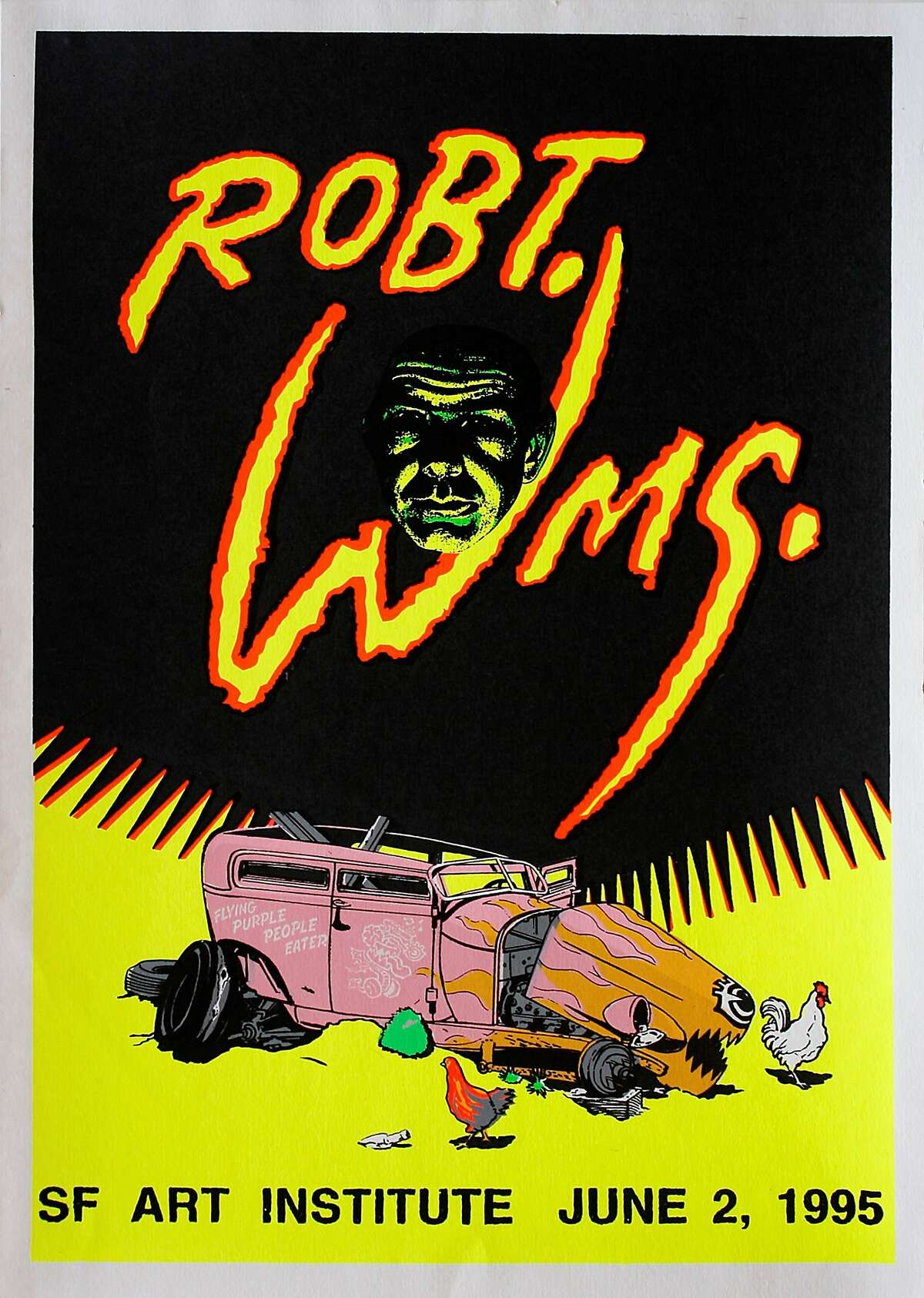 Poster from Robert Williams� exhibition, 1995.