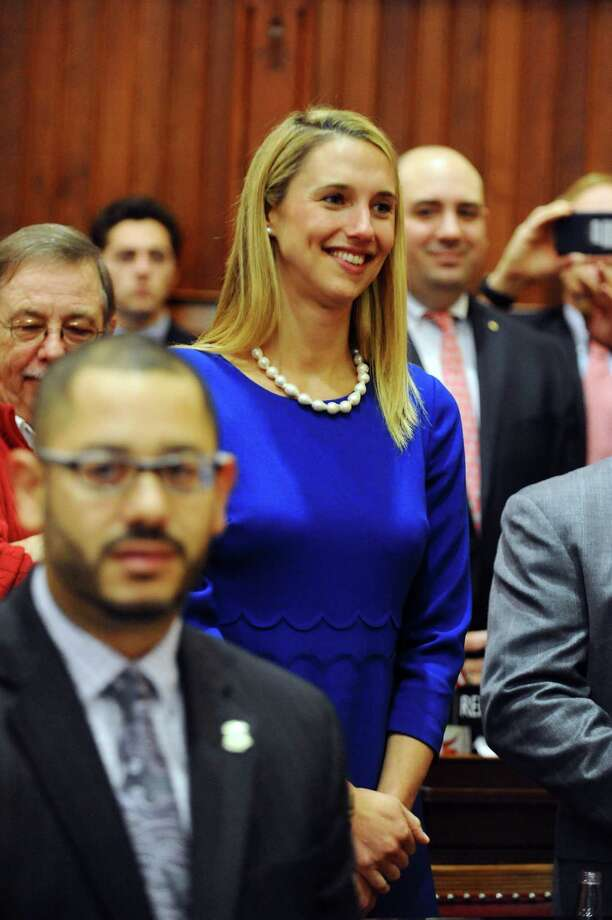 State Representative Caroline Simmons (D, Stamford) on the opening day of the 2017 legislative session at the Capital in Hartford, Conn. on Wednesday, Jan. 4, 2017. Photo: Michael Cummo / Hearst Connecticut Media / Stamford Advocate