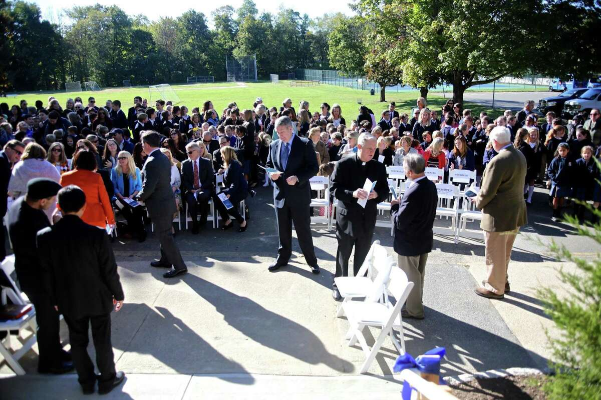A ribbon cutting ceremony was held for the new Upper School at Greenwich Catholic School October 11, 2016. Unlike many other area Catholic schools, Greenwich's school is thriving.