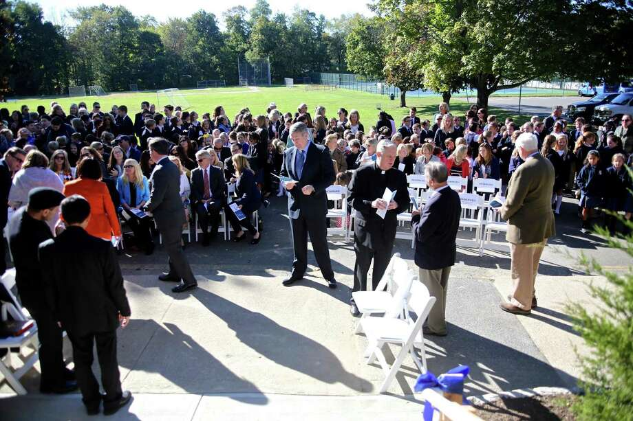 A ribbon cutting ceremony was held for the new Upper School at Greenwich Catholic School October 11, 2016. Unlike many other area Catholic schools, Greenwich's school is thriving. Photo: Danielle Robinson Calloway / For Hearst Connecticut Media / Connecticut Post Freelance