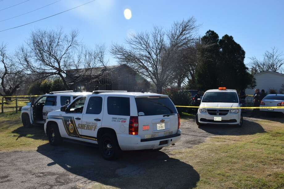Bexar County deputies investigate a scene on the far Southwest Side Monday, Jan. 30, 2017, where they say someone reported seeing a dead body.  Photo: By Caleb Downs, Express-News