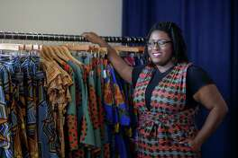 Karissa Lindsay's A Leap of Style is featured at the LAUNCH popup in Partnership Tower across from the George R. Brown Convention Center, Wednesday, Jan. 25, 2017, in Houston. ( Mark Mulligan / Houston Chronicle )
