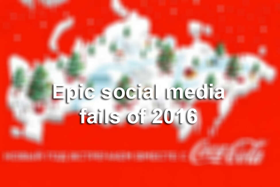 Click ahead to see the biggest social media fails from companies in 2016.