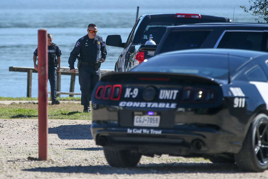 Emergency responders investigate a scene where a man drowned on Monday, Jan. 30, 2017, at Lochness Marina & RV Park of Lake Conroe.