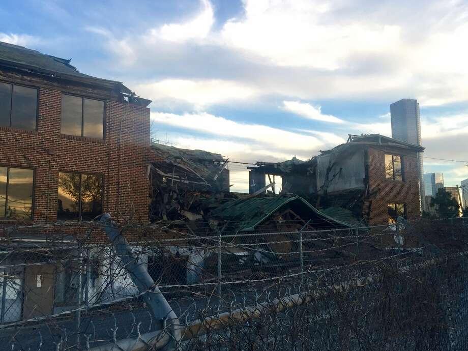 Former nurses building at Jefferson Davis Hospital site.
