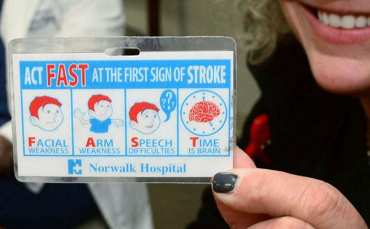 Neurosurgeon Dr. Joshua Marcus and Stroke Coordinator and Rapid Response Nurse Michelle Lecardo of the Endovascular Stroke Team promote ACT FAST response to stroke Thursday, january 19, 2017 at Norwalk Hospital in Norwalk, Conn. The team successfully performed the first endovascular stroke procedure, an intra-arterial mechanical thrombectomy treatment for ischemic stroke. No other facility in the area offers this cutting-edge, minimally invasive treatment in the emergency management of patients with acute strokes.