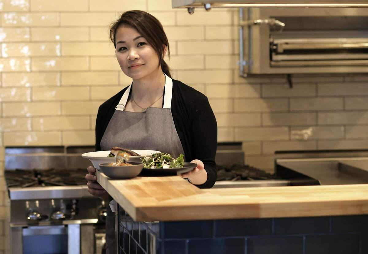 Co-owner and executive chef Yang Peng inside the new kitchen, as crews put the finishing touches on the soon to open Wolf restaurant, in Oakland, Ca., on Monday Jan. 30, 2017.