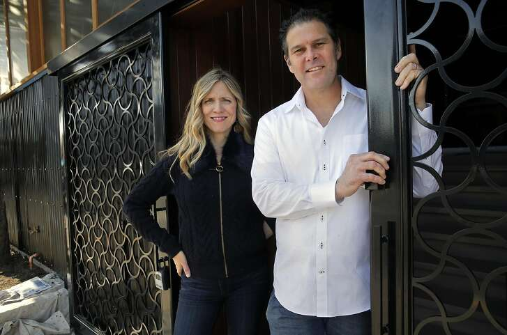 Co-owners Rich and Rebekah Wood as crews put the finishing touches on the soon to open Wolf restaurant, in Oakland, Ca., on Monday Jan. 30, 2017.