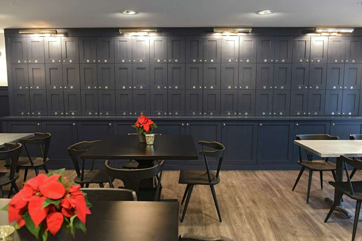 Liquor lockers are seen in the tavern during the grand opening of The Summit at Saratoga on Thursday, Dec. 1, 2016 in Saratoga Springs, N.Y. The Summit at Saratoga is a 110-unit senior independent living community for those 55 and older. (Lori Van Buren / Times Union)