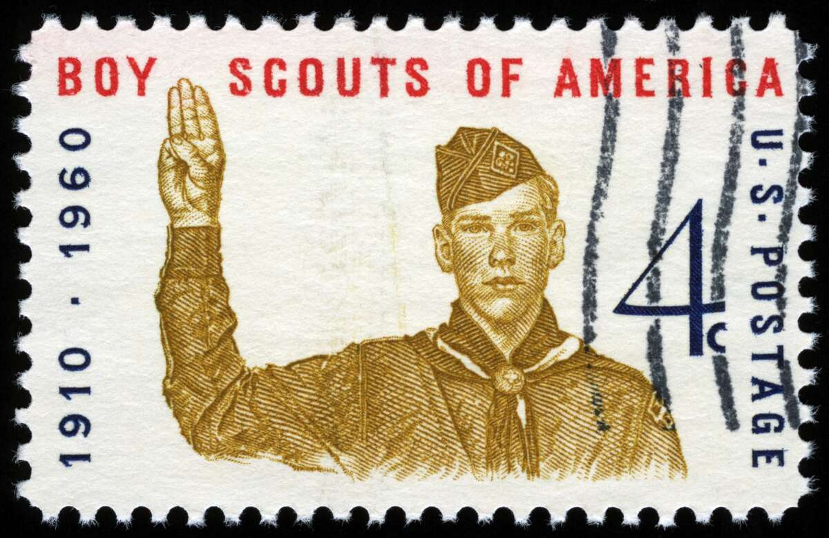 Cancelled Stamp From The United States: Boy Scouts of America.