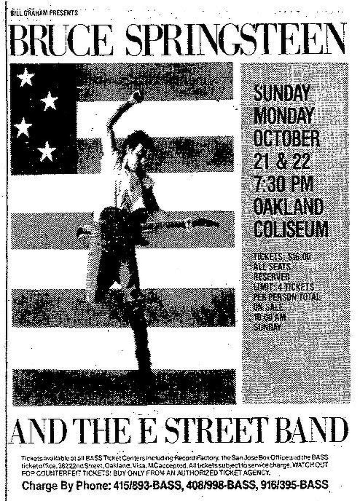 Before two sold out shows in Oakland the Chronicle sent reporter Joel Selvin and photographer Steve Ringman to give fans a preview of Bruce Springteen and the E Street Band's show