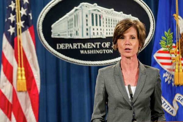Sally Yates, a holdover from the Obama administration, was fired Monday night.