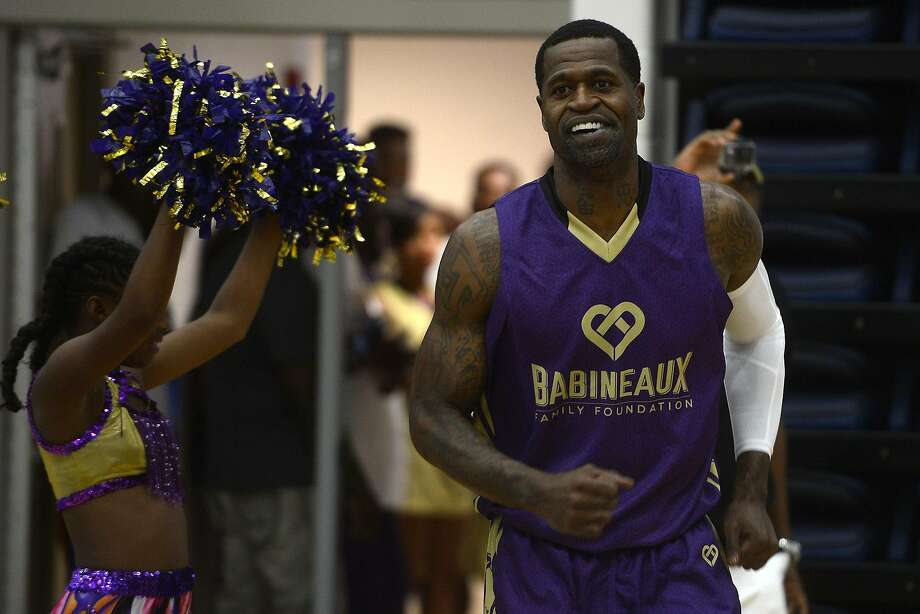 Retired NBA player Stephen Jackson is introduced before the Babineaux Family Foundation's Celebrity All-Star Classic basketball game on Saturday.  Photo taken Saturday 7/9/16 Ryan Pelham/The Enterprise Photo: Ryan Pelham, Ryan Pelham/The Enterprise