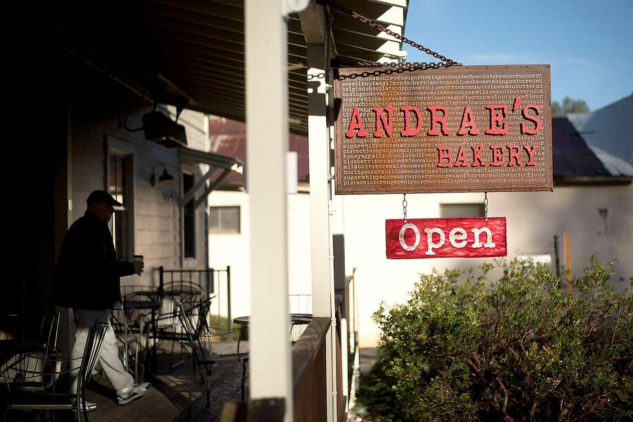 A patron leaves Andrae�s Bakery in Amador City, Calif., on Saturday, Jan. 28, 2017. Photo: Noah Berger, Special To The Chronicle