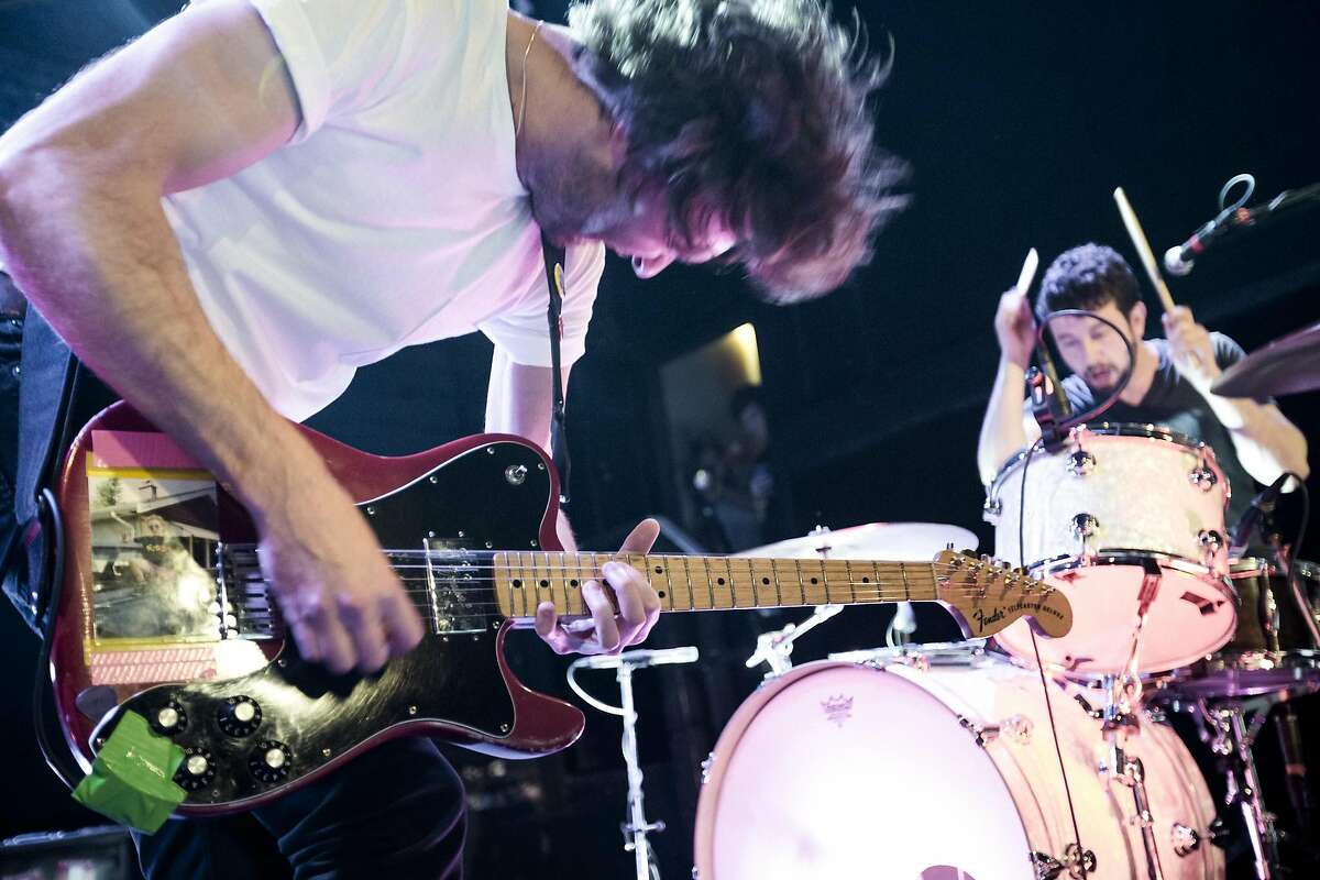 -- PHOTO MOVED IN ADVANCE AND NOT FOR USE - ONLINE OR IN PRINT - BEFORE JAN. 29, 2017. -- FILE -- Brian King, left, and David Prowse of the band Japandroids, in New York, June 27, 2012. The two-man rock band has returned five years after its breakthrough, �Celebration Rock,� with a 2017 album that�s as much about the words as the noise. (Chad Batka/The New York Times)