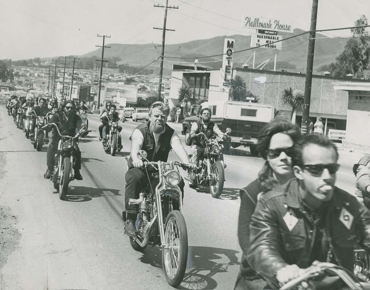 April 15, 1966: Frisco Chapter Hells Angels funeral for one of its late members, Larry Lucas, who skid out of control on his motorcycle, and died at age 24. 8 Hells Angels were arrested after the funeral, when a fight broke out in a tavern in Daly City, CA.