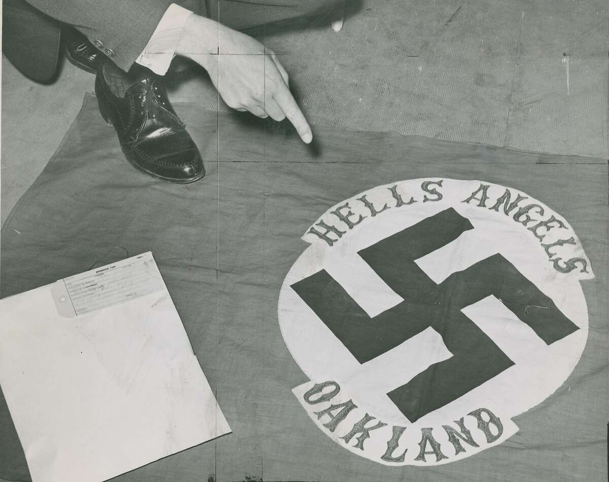 January 29, 1963: Hells Angels Oakland headquarters was raided. The alleged charges included gang rapes, Hitler worship, marijuana, possibly more potent stimulants, possibly stealing. Seven members were charged with the rape of a 20 year old girl the Sunday night prior. There was a photo of Hitler on the premises with the inscription