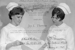 A practical nursing diploma from Midland Hospital School of Practical Nursing, dated Feb. 21, 1969.