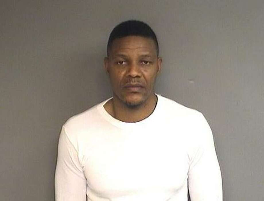 Dew Darius McCauley, 44, of 11237 Fountain Grove Dr, Charlotte, NC, is charged with first-degree larceny, second-degree money laundering and first-degree conspiracy at larceny, according to Stamford Police's Financial Crimes unit. Photo: Stamford Police
