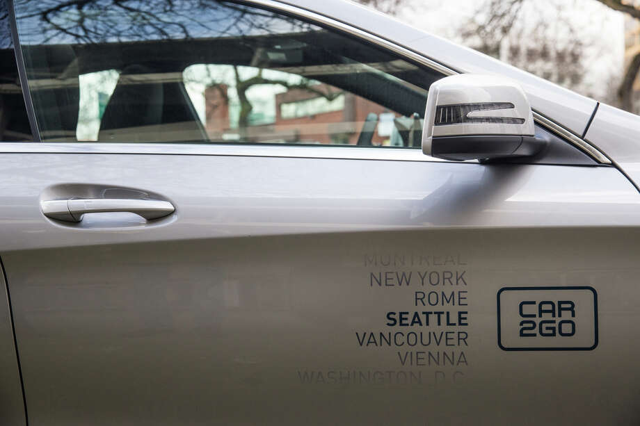 Daimler AG subsidiary car2go's new ride share Mercedes-Benz CLA seen during a press demonstration on Thursday, Jan. 26, 2017. Photo: GRANT HINDSLEY, SEATTLEPI.COM / SEATTLEPI.COM