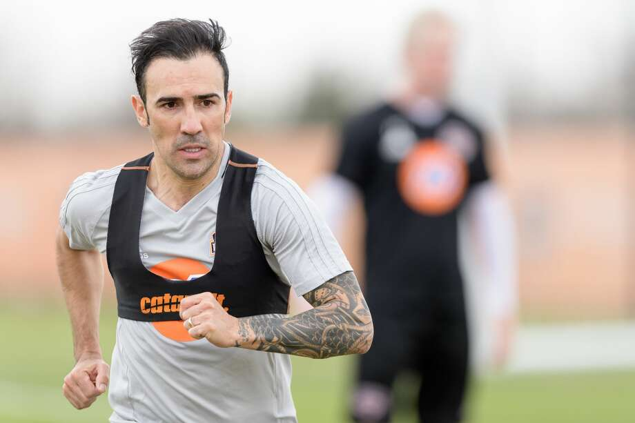 Houston Dynamo's Vicente Sanchez on the first day of practice Jan. 25, 2017, at Houston Sports Park. Photo: Wilf Thorne/Wilf Thorne/Houston Dynamo