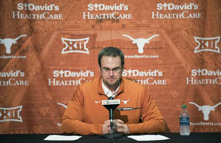 Texas head coach Tom Herman speaks during a press conference on Jan 5, 2017 in Austin.