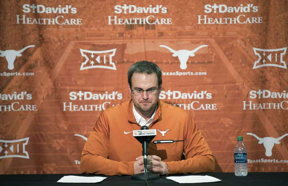 Texas head coach Tom Herman speaks during a press conference on Jan 5, 2017 in Austin. Photo: Ricardo Brazziell /Associated Press / Austin American-Statesman