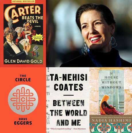 Oakland Mayor Libby Schaaf and her choice of favorite books. Photo: Scott Strazzante / The Chronicle