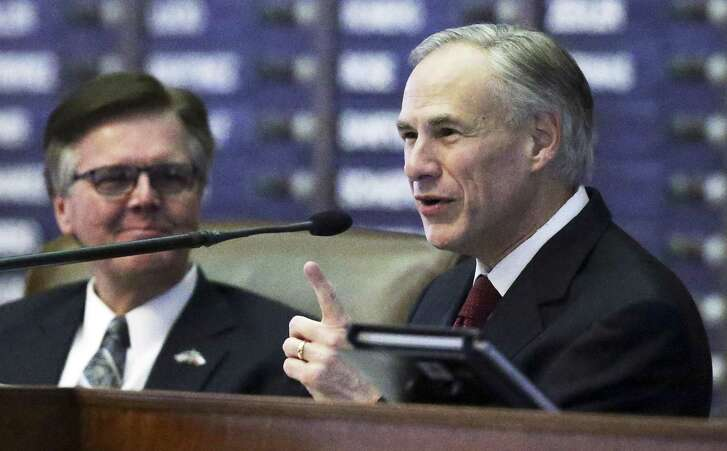 A reader says Gov. Greg Abbott (right) and Lt. Gov. Dan Patrick are assuming some of the negative characteristics of Democrats.