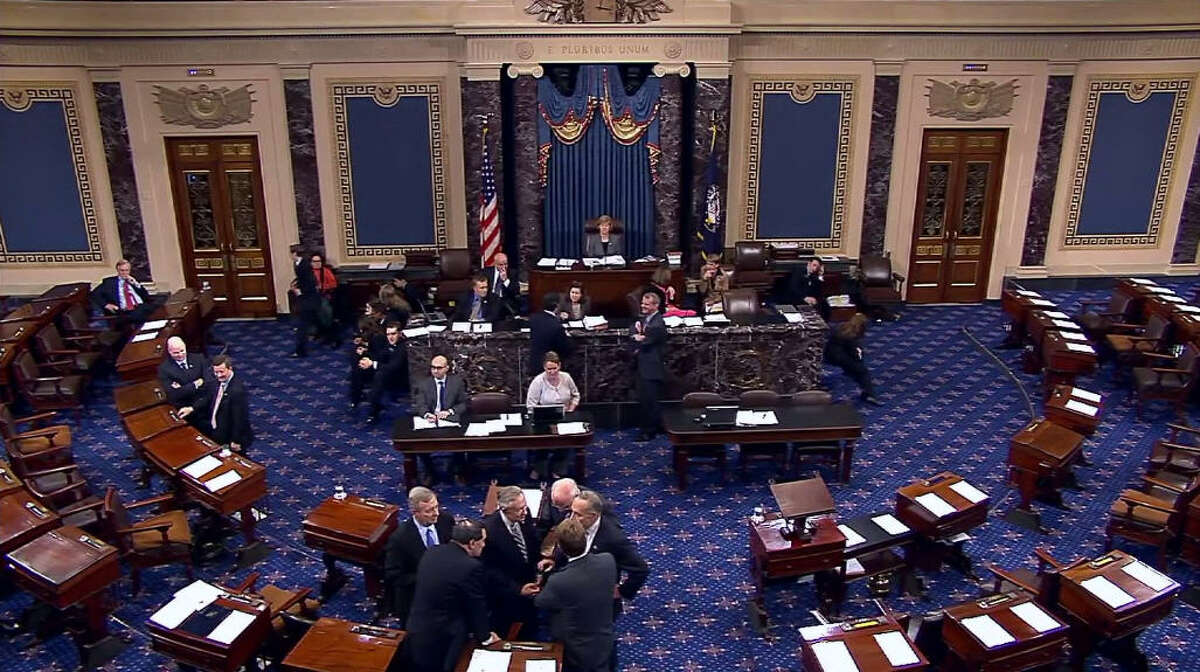The jury The U.S. Senate serves as the jury for impeachment proceedings. They also set the rules for the trial. If 66 Senators vote to remove the president, he's booted from office. Anything less and the president stays.