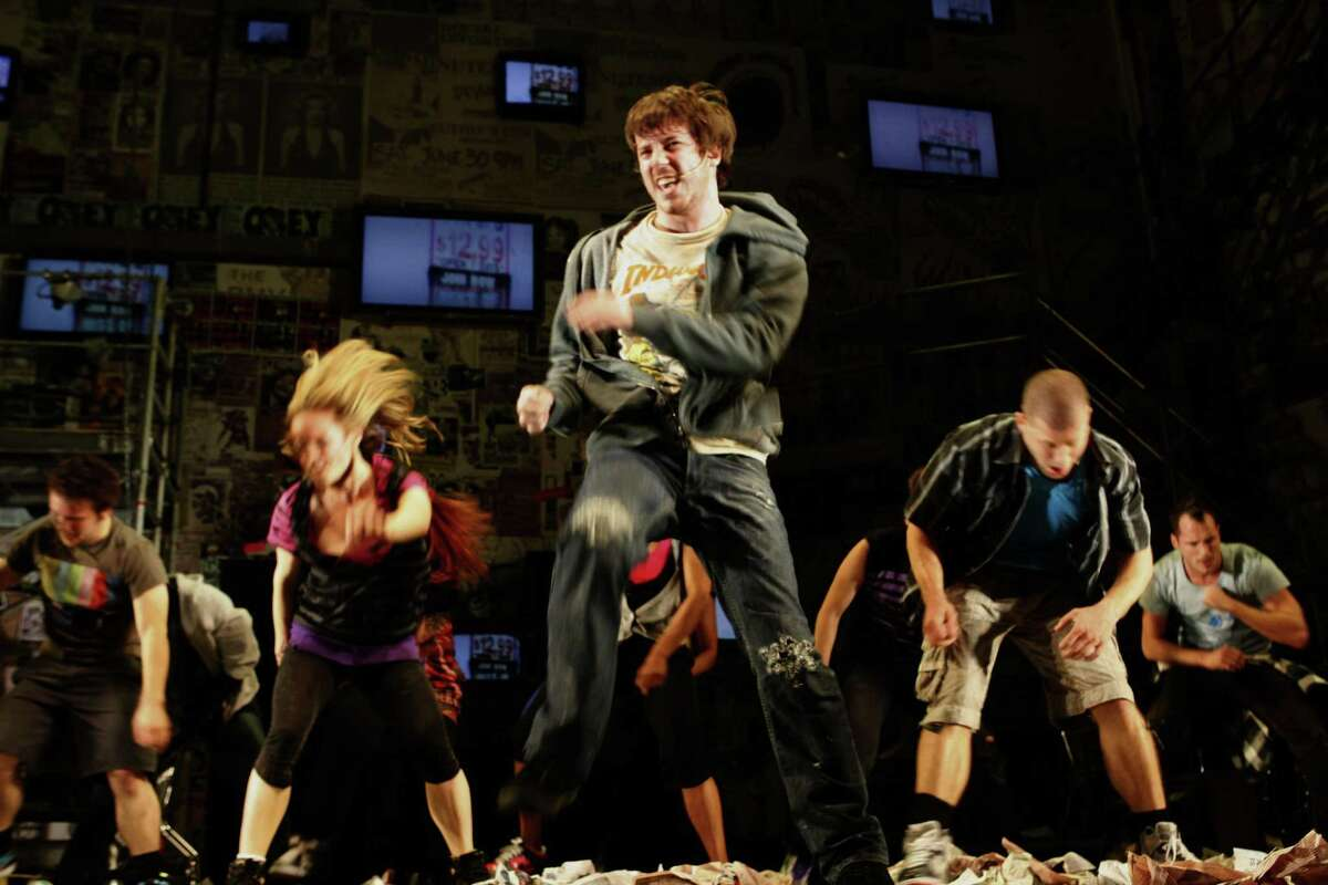 John Gallagher, Jr. playing Johnny during the final dress rehearsal for Berkeley Rep's Roda Theatre world premiere of