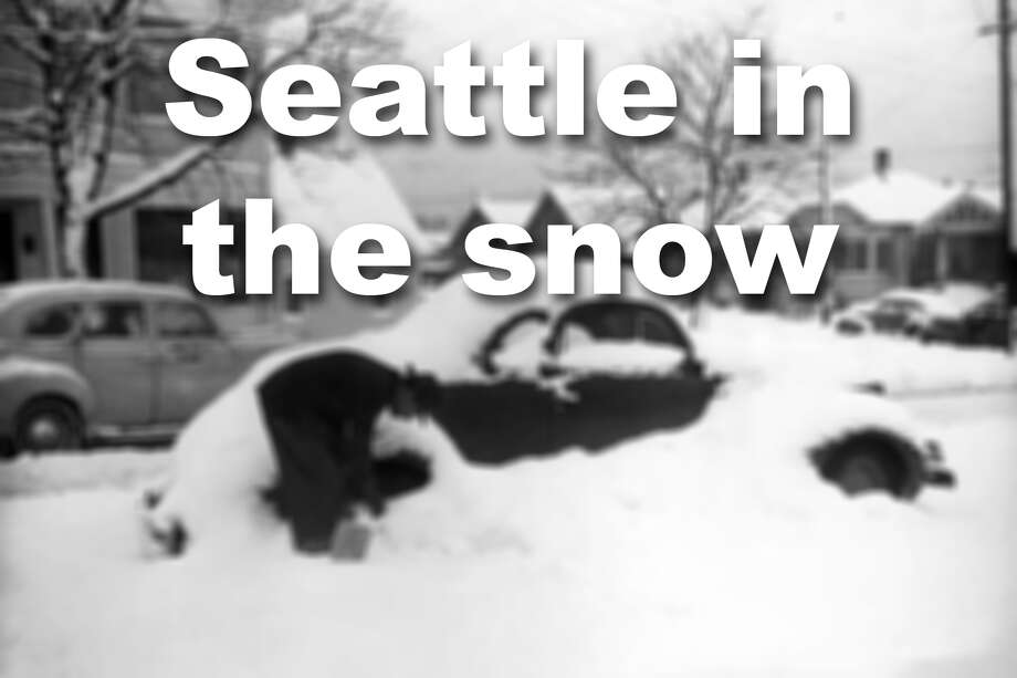 Historic photos of Seattle in the snow and winter. Photo: MOHAI/Archives