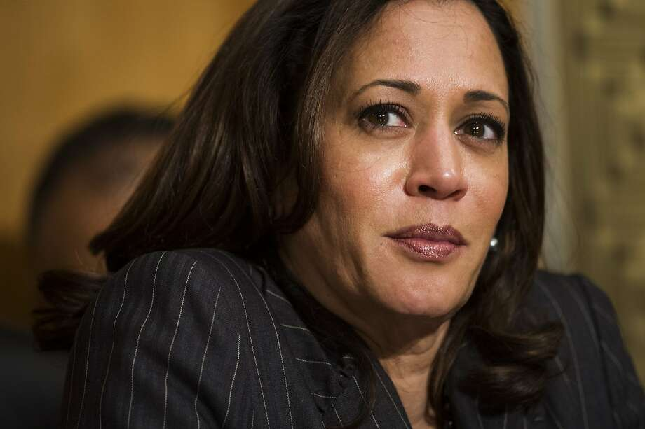 Sen. Kamala Harris, D-Calif., listens as Retired Marine Gen. John F. Kelly testifies during the Senate Homeland Security Committee hearing on his confirmation to be Secretary of Homeland Security on Capitol Hill in Washington, Tuesday, Jan. 10, 2017. (AP Photo/Cliff Owen) Photo: Cliff Owen, Associated Press