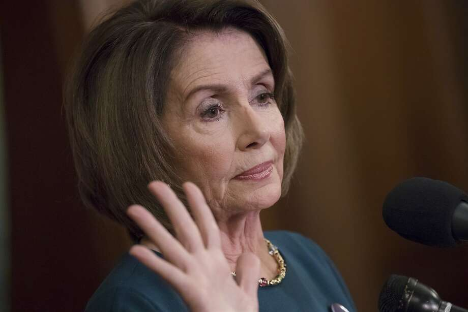 """""""Elections have ramifications, and here is a living, breathing example of it,"""" Nancy Pelosi said of Trump's choice of Neil Gorsuch to the high court. Photo: J. Scott Applewhite, Associated Press"""