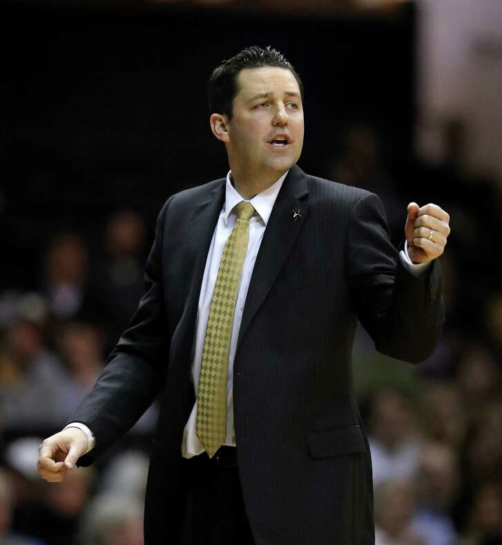 Vanderbilt head coach Bryce Drew directs his players in the first half of an NCAA college basketball game against Iowa State, Saturday, Jan. 28, 2017, in Nashville, Tenn. (AP Photo/Mark Humphrey)