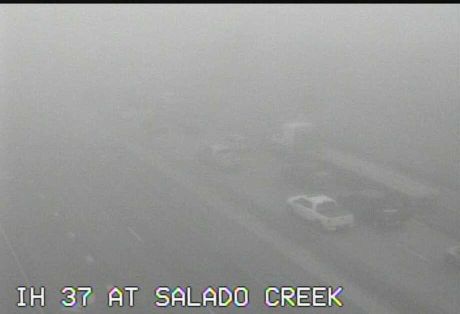 TXDOT traffic cameras along Interstate 37 show dense fog on the highway at 8:45 Wednesday, Feb. 1, 2017 Photo: TXDOT