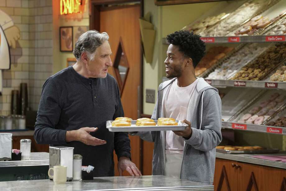 "Judd Hirsch, left, and Jermaine Fowler star in new CBS comedy ""Superior Donuts."" Photo: CBS, STF / �©2016 CBS Broadcasting, Inc. All Rights Reserved"
