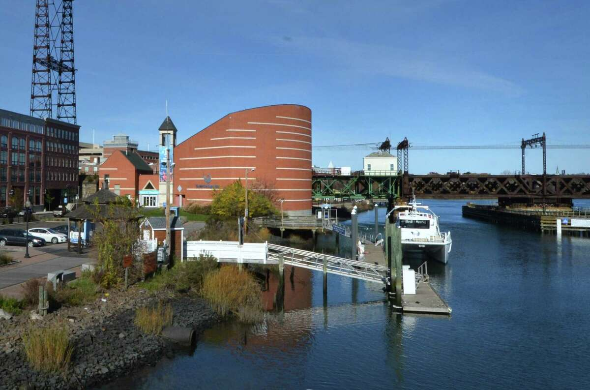 The IMAX theater, part of the Maritime Aquarium at Norwalk, is one the properties that stands to be most impacted by the state's replacement of the Walk Bridge over the Norwalk River on Tuesday December 20, 2016 in Norwalk Conn.