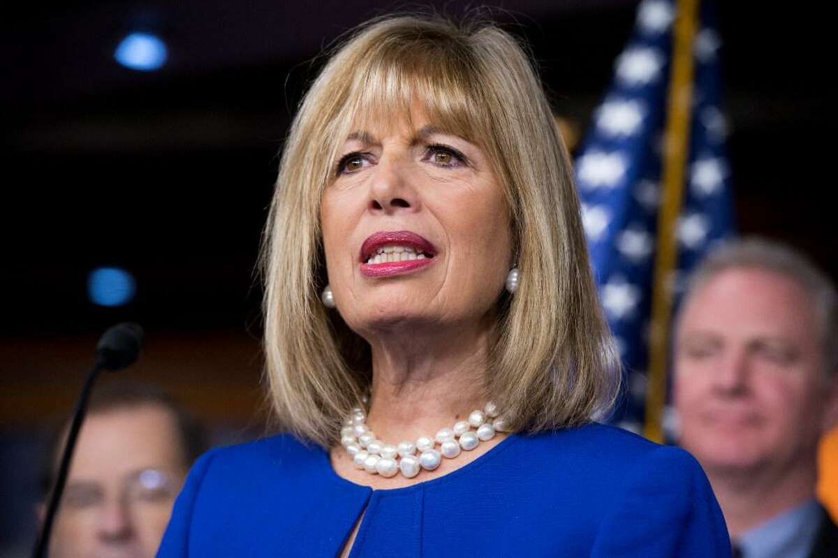Rep. Jackie Speier, D-Calif., attends a news conference on January 6, 2016. On Tuesday, Speier nominated fired acting Attorney General Sally Yates for the John F. Kennedy Profile in Courage Award.