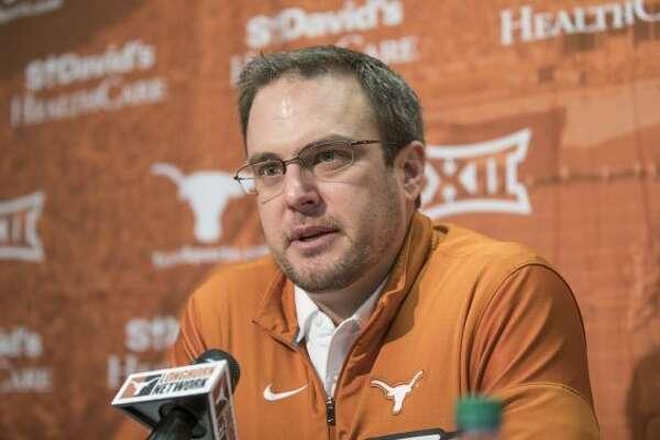 Texas head coach Tom Herman speaks during a press conference, Thursday, Jan 5, 2017 in Austin, Texas. (Ricardo Brazziell/Austin American-Statesman via AP)