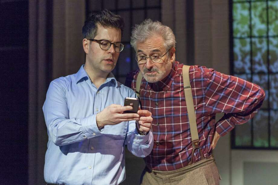 "David Sills, left, and Barry Pearl in ""Assisted Loving: Dating with My Dad"" at Capital Repertory Theatre. (Photo by Douglas C. Liebig/Optimum Exposure Photography for Capital Rep.) / Optimum Exposure Photography"
