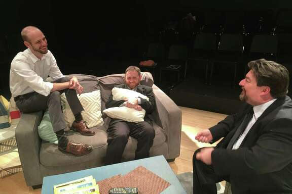 """Joshua Hoppe, from left, Colin Brock and Jonathan Gonzalez star in """"Small Jokes About Monsters"""" at the Landing Theatre."""