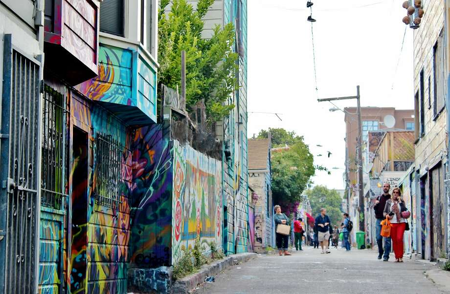 Clarion Alley Mural Project includes murals that range from the poignant to the political. Photo: Stephanie Wright Hession / Special To The Chronicle