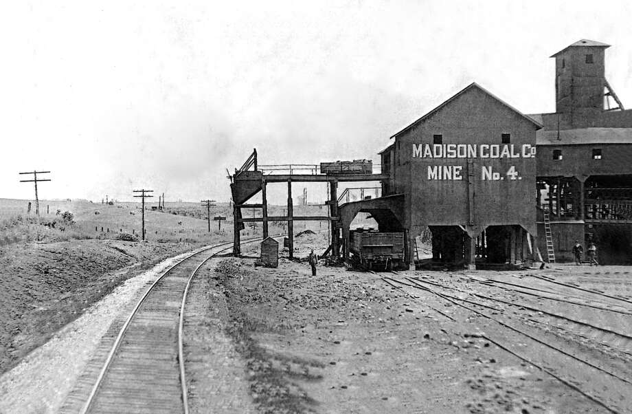 Madison Coal Corp Mine No. 4 was located along the bike trail just west of where Route 159 crosses the trail on the east side of Glen Carbon. Photo: Glen Carbon Museum And Historical Commission