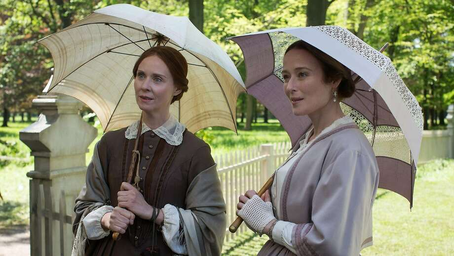 "Poet Emily Dickinson (Cynthia Nixon, left) and her sister Vinnie (Jennifer Ehle) in Terence Davies' ""A Quiet Passion."" Photo: Music Box Films"